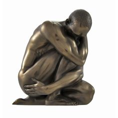 Shop for Bronzed Nude Male Posed Crouching Statue. Get free delivery On EVERYTHING* Overstock - Your Online Home Decor Outlet Store! Drawing Poses Male, Male Figure Drawing, Figure Drawing Reference, Guy Drawing, Male Poses, Anatomy Drawing, Anatomy Study, Anatomy Reference, Drawing Ideas