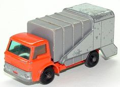 Refuse Truck (7C) - Matchbox Cars Wiki Waste Container, Matchbox Cars, Nostalgia, Trucks, Closet Storage Bins, Truck, Cars