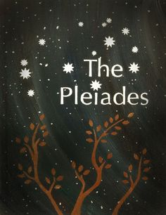 The Pleiades - The Seven Sisters Constellation - Blank Greeting Card