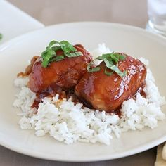 Honey Garlic Chicken - made in the slow cooker!