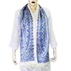 Fashion Scarfs For Women Printed Head Silk Scarves 22 X 72 Inches, Blue/White (Apparel)  http://www.modernwebmaster.com/modernweb.php?p=B001LM47DC  B001LM47DC