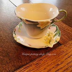 """A beautiful """"Franz"""" porcelain teacup and saucer"""