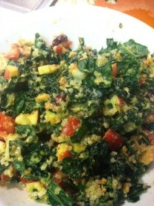 Yvonne's First Kale Salad Recipe with Quinoa - Vegan and Gluten-free