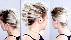 5 Braided Headbands For Short Hair | Milabu - YouTube