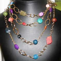 Beautiful hand-made jewelry by my high school classmate. (My favorite piece of Ginny's work, too!)