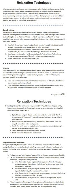 Relaxation Techniques. Especially like the muscle relaxation | rePinned by CamerinRoss.com