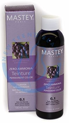 Mastey TEINTURE Zero Ammonia Permanent Hair Color 4oz (4.3) -- Want additional info? Click on the image.