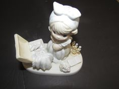 """Vintage Retired 1983 Precious Moments """"Precious Memories""""  Figurine  of a Girl and her Trunk of memories by mariehotdeals on Etsy"""