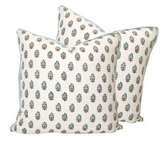 love this floral stamp pillow with mini flange in stripe.  get custom made instead of paying this price though!