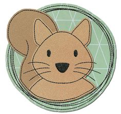 ★Eichhörnchen★ Doodle-Button 10x10