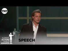 Brad Pitt revealed the strange nickname that Leonardo DiCaprio calls him at the SAG Awards and reunited with his ex-wife Jennifer Aniston. Sag Awards, Music Awards, Brad Pitt, Award Acceptance Speech, Oscar Speech, Wife Jokes, Friends Episodes, Best Speeches, Actor Studio