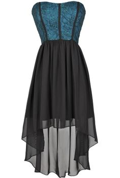 Teal We Meet Again High Low Dress  www.lilyboutique.com