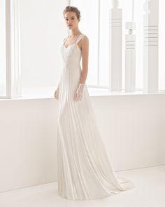 Nacel vestido novia muselina de seda.