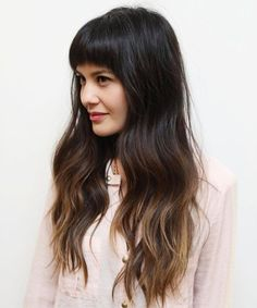 Long Hairstyles 2018 with Bangs