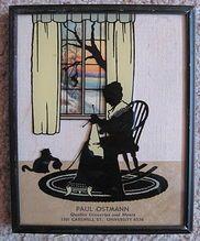 Vintage Advertising Framed Silhouette Calendar Lady Knitting