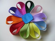 Girl Scout Daisy Ribbon Pin  Great idea for those new Daisy Troops.  I wish I had Daisies again just so I could do this with them.  Adorable.