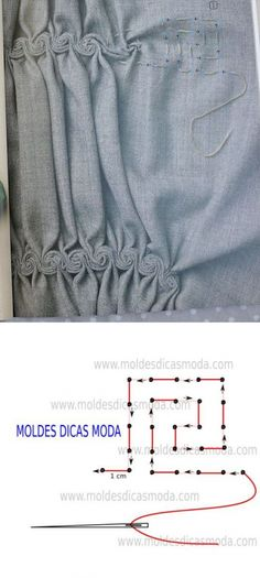 Ideas Creative Art Fashion Fabric Manipulation For 2019 Sewing Hacks, Sewing Tutorials, Sewing Projects, Sewing Tips, Crochet Tutorials, Dress Tutorials, Techniques Couture, Sewing Techniques, Embroidery Techniques