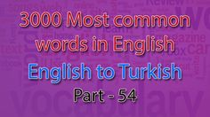 English to Turkish | 2651-2700 Most Common Words in English | Words Star...