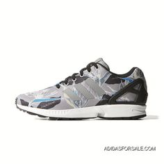 3dc9c19f10b0a Adidas Zx Flux Women Flora Grey Blue New Release