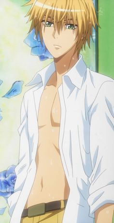 Shirtless Usui Tamaki...... LOL Misaki I am totally jealous of you if you don't want him I'll Take Him because you call him a Perverted Alien