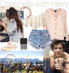 """Coachella with Harry"" by vannabanana01 ❤ liked on Polyvore"