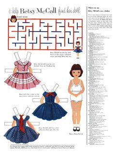 Betsy Mccall Paper Dolls 1950's - Yahoo Image Search Results