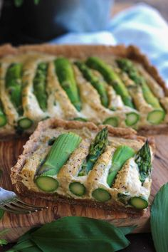 The Best Vegan Quiche Ever: Perfectly cheesy soy-free creamy filling over whole grain crust topped with crunchy asparagus. 40 minute easy recipe from start to finish!