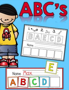 Build-a-Book!  Color, cut and paste the ABC's, numbers, shapes and colors!