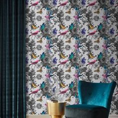 Graham & Brown offer the most design driven and gorgeous floral wallpaper on the market. Brown Wallpaper, Modern Wallpaper, Print Wallpaper, Home Wallpaper, Designer Wallpaper, Flower Wallpaper, Botanical Wallpaper, Wallpaper Designs, Wallpaper Panels