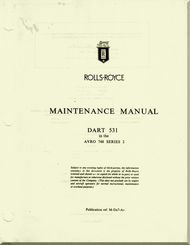 "# Rolls Royce "" Dart ""  531  in the AVRO 748 Series 2  Aircraft Engine Maintenance   Manual   ( English Language )"