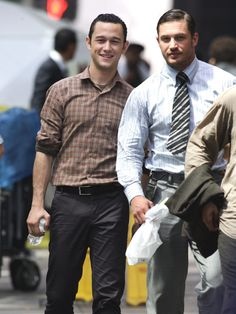 Joseph Gordon-Levitt and Tom Hardy. There needs to be more pictures of them together....seriously...