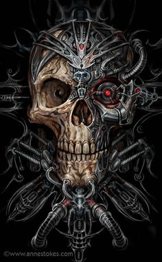 Bio skull by Ironshod on @DeviantArt