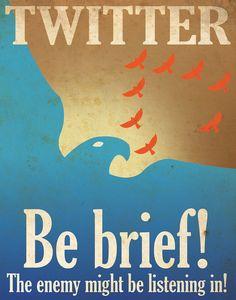 WWII like propaganda for twitter