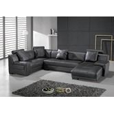 Found it at AllModern - Houston 3 Piece Leather Sectional Sofa Set in Black