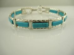 WSB0003 Turquoise Wire Wrapped Bangle in by inspiredcreationsco, $55.00