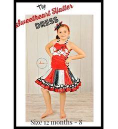 Sweetheart Halter Pieced Twirl Dress Pattern