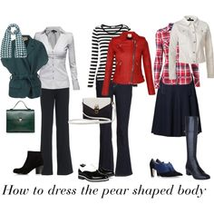 How to dress the pear shaped body by fortyplusstyle on Polyvore featuring Jane Norman, Tommy Hilfiger, IRO, J Brand, Space Style Concept, NYDJ, Danskin, Kala, L.K.Bennett and Karen Millen