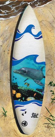 Dolphin surf board, Jamie would love this