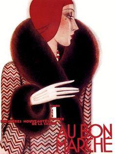 Henri Mercier, Au Bon Marche Catalogue Cover, 1920's