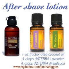 Doterra essential oil after shave lotion  Add a drop of sandalwood for smooth skin. https://www.facebook.com/pages/Naturally-You/907543169288373