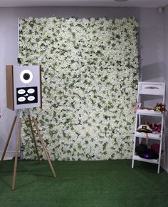 Create the perfect backdrop to your event with help from Sharebooth. We offer stunning flower walls at affordable prices. Contact us today. Vintage Photo Booths, Vintage Photos, Flower Backdrop, Flower Wall, Wall Backdrops, White Flowers, Greenery, Birthdays, Create