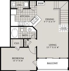 Home plans homepw07917 864 square feet 2 bedroom 1 for Apartments with attached garages