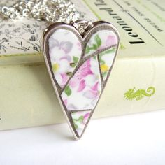 Something beautiful made from something broken. Mosaic Heart Pendant by GoodAfternoonAgatha, £15.00