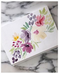 Floral watercolor study by Natalia Nazarian I'm so happy to see new people in my account! Thank you for attention❤️ Please feel free - Salvabrani Easy Watercolor Flowers Step by Step Tutorial. Learn how to paint these lovely florals with a detailed s Watercolor Cards, Watercolour Painting, Floral Watercolor, Painting & Drawing, Watercolors, Watercolor Water, Watercolor Ideas, Simple Watercolor Flowers, Watercolor Artists