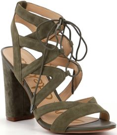 34ff85942bc7 Sam Edelman Yardley Suede Block Heel Ghillie Sandals