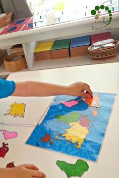 learning about continents montessori preschool | homeschool | preschooler | Montessori Nature Blog