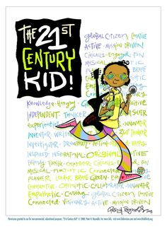 The Digital Literacy & Century Educational Systems Initiative in America 21st Century Classroom, 21st Century Learning, 21st Century Skills, Peter Reynolds, Brave Kids, Digital Literacy, Author Studies, Technology Integration, Kids Poster