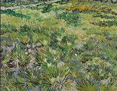 Meadow in the Garden of Saint-Paul Hospital 1890. The canvas echoed the subjects of those van Gogh had painted when he first arrived: flowers and the neglected gardens that surrounded the hospital. He depicted the scrubby bushes in swift lines of green, gold, tan, and black, with the sinuous trunks of trees rising in the distance. The thick impasto records Vincent's rapid strokes, as if van Gogh was compelled to finish his work and embark on the journey to his next home.