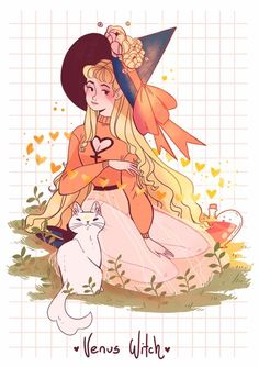 New sailor witches! starting off the series with the Witch of Venus! Otherwise known as the love witch ✨✨she's chilling with her familiar Artemis! ✨ I'll have this and my other sailor witch prints with me this weekend at SMASH✨ Sailor Venus, Sailor Moon S, Sailor Moon Crystal, Sailor Mars, Manga Comics, Witch Drawing, Image Citation, Moon Witch, Poses References