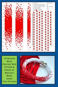 10 um bead crochet rope pattern and photo of the finished necklace. I combined t . 10 um bead crochet rope pattern and photo of the finished necklace. I combined t …, Crochet Bracelet Pattern, Crochet Beaded Bracelets, Bead Crochet Patterns, Bead Embroidery Patterns, Bead Crochet Rope, Beaded Bracelet Patterns, Beaded Embroidery, Beading Patterns, Loom Beading